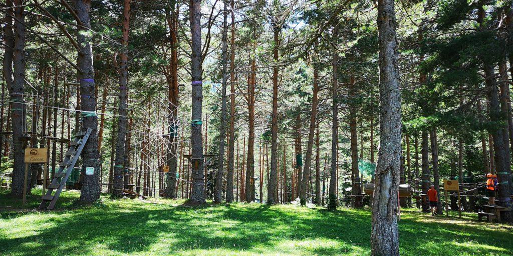 Parque de Arborismo en la Selva de Oza