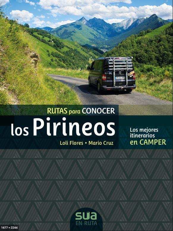 libro rutas  por los pirineos en furgo