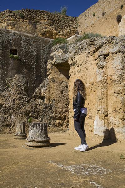 Visitando la tumba de Servilia en Carmona